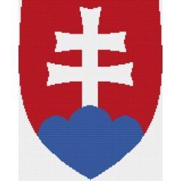 Das slowakische Staatswappen - Zählmuster