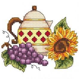 Kanne mit Weintraube - Zählmuster