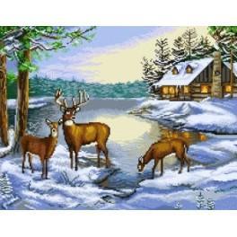Winter Landscape - Zählmuster