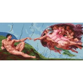 Michelangelo - Erschaffen von Adam - Zählmuster