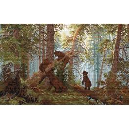 Ivan Shishkin - Der Morgen im Wald - Zählmuster