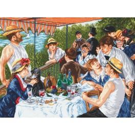 Das Frühstück der Ruderer - A. Renoir - Zählmuster