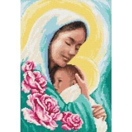 Maria mit dem Kind - Zählmuster