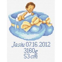 GC 8248 Stickvorlage - Geburtsschein für Jungen