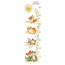 Meter mit Katzen - Zählmuster