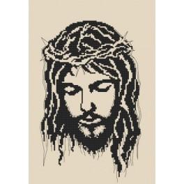 Jesus in Dornenkrone - Zählmuster