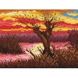 Herbst am Teich - Zählmuster