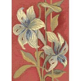 Azurblauen Lilien - Zählmuster