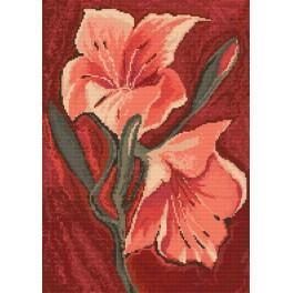 Rosa Lilien - Zählmuster