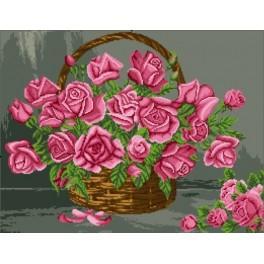 Ein Korb mit Rosen - Zählmuster
