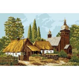Hütte im Herbst - Zählmuster