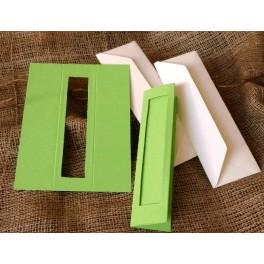 Lesezeichen mit rechteckigem Passepartout smaragdgrün
