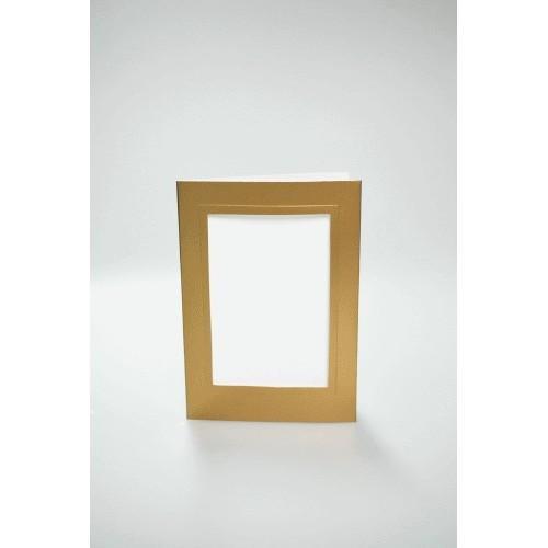 Karta z prostokątnym psp złota
