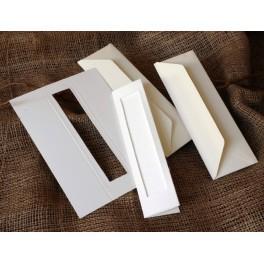 Zakładka z prostokątnym psp biała