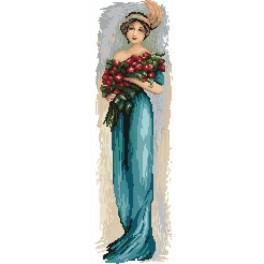 4545 Die Frau mit Blumen - Gobelin