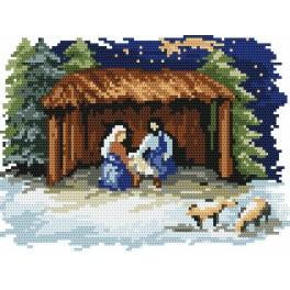 Weihnachtskrippe - B. Sikora-Malyjurek - Gobelin