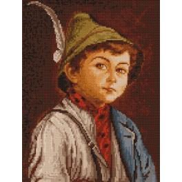 4056 Der Junge im Tirolern Hut - Gobelin