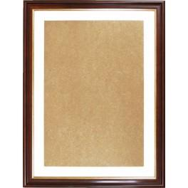 Ramka drewniana - kolor orzech+złoty - białe psp