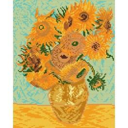 V. van Gogh - Sonnenblumen - Aida mit Aufdruck
