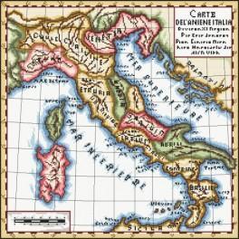 Die alte Landkarte - Aida mit Aufdruck