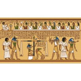 Ein Papyrusfragment - Aida mit Aufdruck