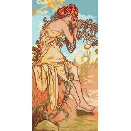 Der Sommer - A. Mucha - Aida mit Aufdruck