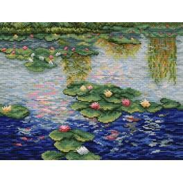 C.Monet - Wasserlilien - Aida mit Aufdruck