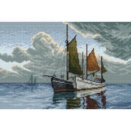 Das Boot auf dem Meer - Aida mit Aufdruck