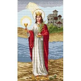 Die heilige Barbara - Aida mit Aufdruck