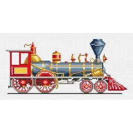 Rote Lokomotive - Aida mit Aufdruck