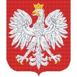 Das polnische Staatswappen - Aida mit Aufdruck