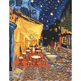 Nachtcafé - Vincent Van Gogh - Aida mit Aufdruck