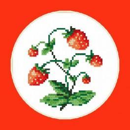 Süße Erdbeeren - B. Sikora-Malyjurek - Aida mit Aufdruck