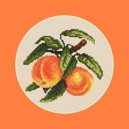 Saftige Pfirsiche - B. Sikora-Malyjurek - Aida mit Aufdruck