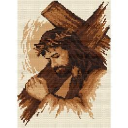 Jesus mit dem Kreuz - B. Sikora-Malyjurek - Aida mit Aufdruck