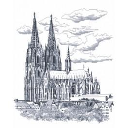 Kölner Dom - Aida mit Aufdruck
