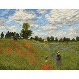 Claude Monet - Mohnblumen in der Nähe von Agrenteu - Aida mit Aufdruck