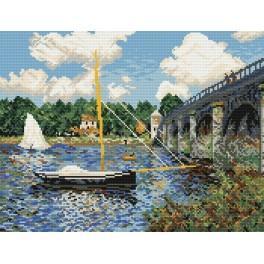 Claude Monet - Brücke in Argenteuil - Aida mit Aufdruck