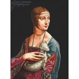 Die Dame mit dem Hermelin - Leonardo da Vinci - Aida mit Aufdruck