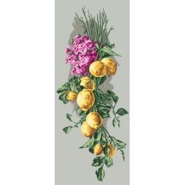 Zitronenkomposition - Aida mit Aufdruck