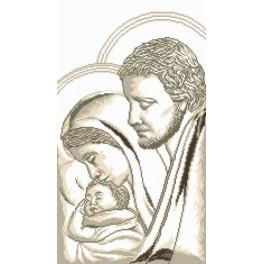 Maria, Josef und das Kind - Aida mit Aufdruck