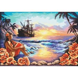 AN 8057 Aida mit Aufdruck - Himmelblaue Lagune