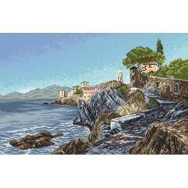 Felsenküste - Aida mit Aufdruck