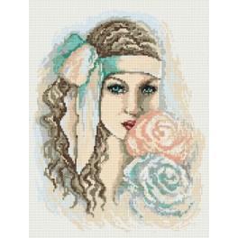 Träumerisches Mädchen - Aida mit Aufdruck