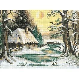 Winterliche Dämmerung - Aida mit Aufdruck