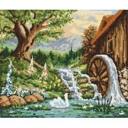 Landschaft mit einer Mühle - Aida mit Aufdruck