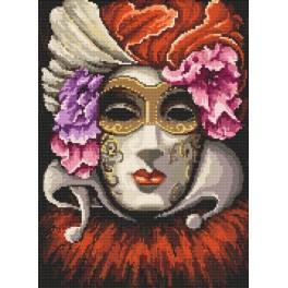 Venezianische Maske - Aida mit Aufdruck