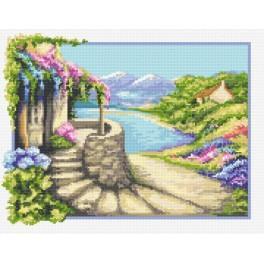 Italienisches Landschaftsbild - Aida mit Aufdruck