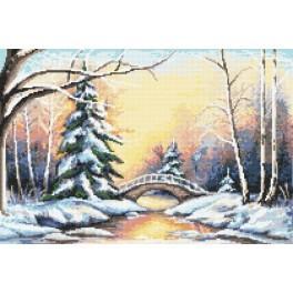Winterbrücke - Aida mit Aufdruck