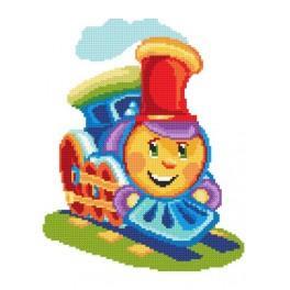 Bunte Lokomotive - Aida mit Aufdruck